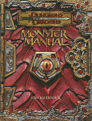 """dungeons & Dragons Monster Manual Core Rulebook Iii"" 2000 1St Ed Hc Vg"