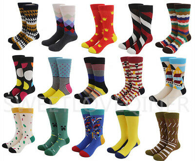 Mens Cotton Socks Colorful Fashion Fancy Casual Sock Male SOX For Wedding Gifts