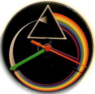 Pink Floyd Dark Side of the Moon Inspired CD Quiet Clock in Gift Box