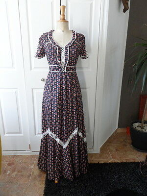 Robe Longue Ancienne Vintage Taille S 36 Costume...