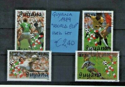 "Guyana 1989 ""world Cup"" Used Set (Cat.5)"