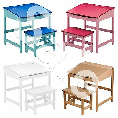 Childrens Kids Storage Desk Home Work Reading Writing Study Table and Stool Set