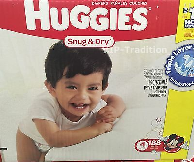 Huggies Snug and Dry Diapers, Step 4 Economy Plus, 188-Count