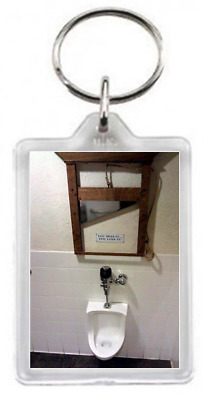 Loo Toilet Urinal Guillotine Chop Cut Knife Sign Miss Quote Gift Keyring Key Rin