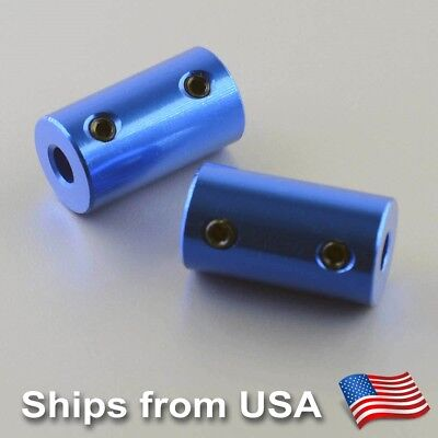 2 PCS x Rigid Shaft Coupler 5mm To 5mm for Reprap Prusa 3D printers, CNC Routers