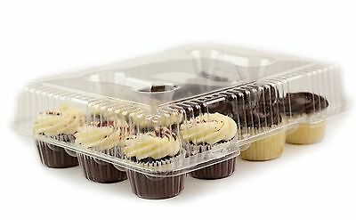 Chefible 12 Cupcake Container, Takeout Container, Cupcake Carrier, 10 Pack (10)