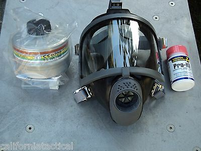 Scott Gas Mask Kit w/40mm NATO NBC Filter & Potassium Iodide Ships Free! *SMALL*