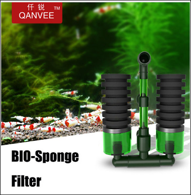 QANVEE Bio Sponge Filter for Shrimp Fish Aquarium BioSpon Crystal Red Cherry RCS