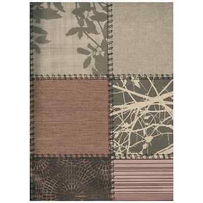 Mantel Hule PATCHWORK CHOCO 140x140 Texturas