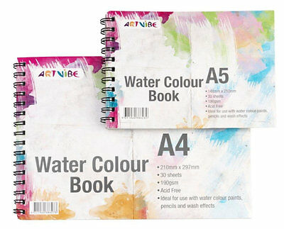 Artvibe A4 Watercolour Sketch Book 150gsm - 30 Sheets