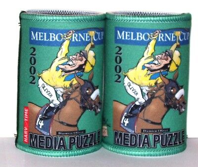 Melbourne Cup - Media Puzzle Cartiture Stubby holders x 2