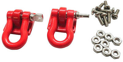 Apex RC Products 1/10 RC Rock Crawler Scale Red Winch Shackles - 2pcs #4051