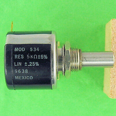 Precision Potentiometer 5K Ohm 5% 10Turn Superior Stop Strength Rugged Spectrol