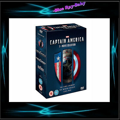 Captain America - 3 Movie Collection - Marvel  *** Brand New Dvd Boxset***