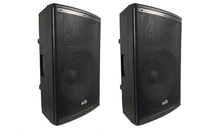 "2 x BRAND NEW AMERICAN BOSS 15"" AMPLIFIER PA/DJ SPEAKERS 1200W ACTIVE BLUETOOTH"