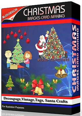 (MD286) 5600 CHRISTMAS IMAGES, Vintage,Tags, Card Making, Decouage, Santa Craft
