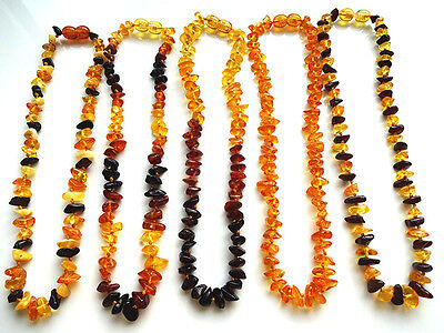 Lot-5 MIX BALTIC  AMBER BABY  NECKLACES 33cm, 13""