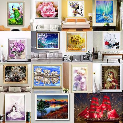 Various 5D Diamond Painting Embroidery Cross Stitch Kit Home Decor DIY Craft New