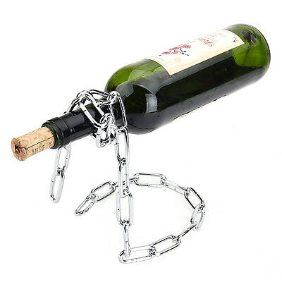 Float Chain Wine Bottle Holder Alcohol Champagne Illusion Rack Stand Display New