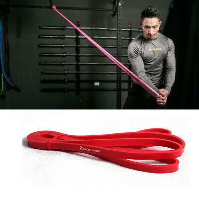 Resistance Tube Home Gym Fitness Exercise Workout Heavy Yoga Training Band Red