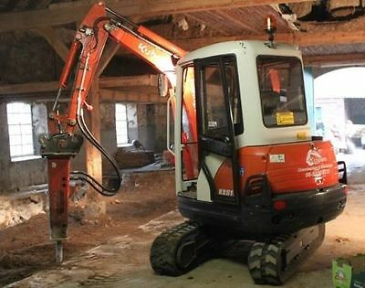 3 ton digger with driver