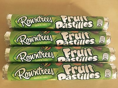 4 X Rowntrees Fruit Pastilles Tubes, Classic British Retro Sweets, Uk Import