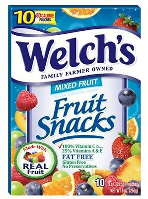 Welch's Fruit Snacks mixed fruits 10 pouch count
