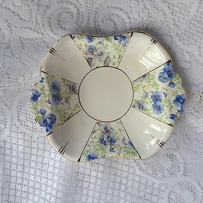 Royal Albert Blue Pansy Nut/Candy Dish  (987)
