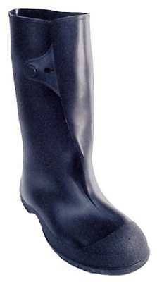 TINGLEY 35141 Overboots, Mens, L, Button Tab, Blk, PVC, 1PR