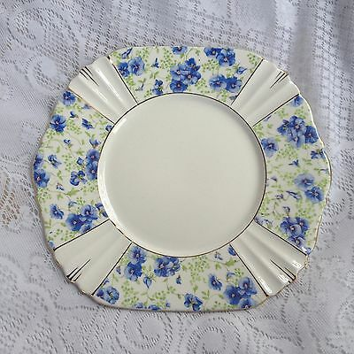 Royal Albert Blue Pansy 8 3/4 inch Plate  (990)