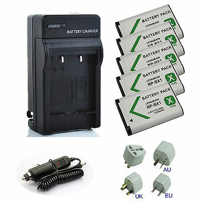 For Sony NP-BX1/M8 NPBX1 Lithium-Ion X Type Battery (Silver) / Charger
