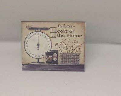 Handmade Miniature Dolls House Accessory Canvas Style Picture Kitchen #1