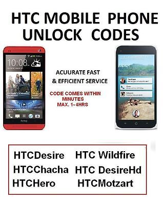 UNLOCK HTC ONE M7 M8 all htc models Unlocking Code Network Pin Fast  Vodafone UK
