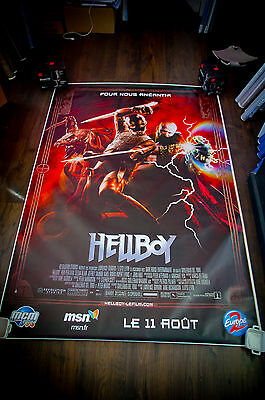 HELLBOY Style B 4x6 ft Bus Shelter D/S Movie Poster Original 2004