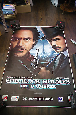 SHERLOCK HOLMES GAME OF SHADOWS A 4x6 ft Bus Shelter D/S Movie Poster Original