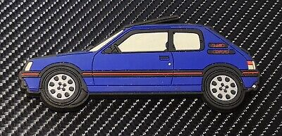 Peugeot 205 gti fridge magnets , Miami Blue