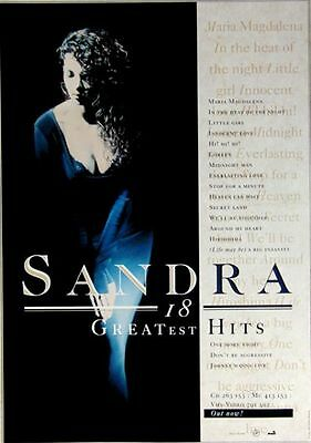 SANDRA - 1992 - Promoplakat - Greatest Hits