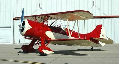 "Scale WACO E Cabin Biplane 52/"" Giant Scale RC AIrplane Printed Plans"