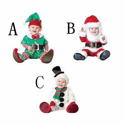 Christmas Infant Baby Costume Santa Claus Elf Snowman Cosplay Toddlers Clothing