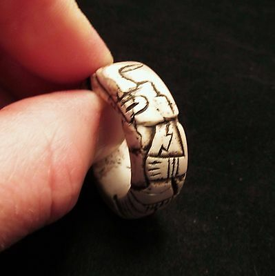 Stunning Ancient Pre-Columbian Mayan Carved Hair Ring ~ A Very Rare Piece!! • CAD $1,905.37