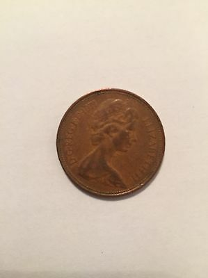 1971 new pence 2p coin