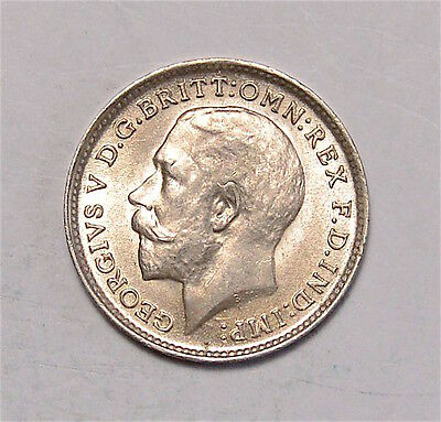 1912 Threepence Maundy  3D  George V   #642-137