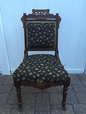 Eastlake Carved Parlor Chair Antique Victorian