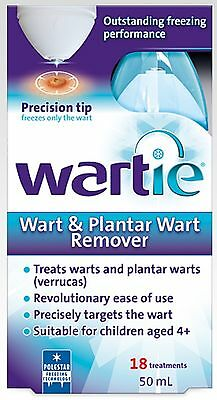 Wartie Wart & Plantar Wart Remover 50Ml Easily And Effectively Freezes And Remov