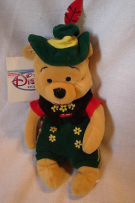 "Disney Winnie The Pooh "" OCTOBER FEST POOH ""  8"" Bean Bag Plush w/ Tags"
