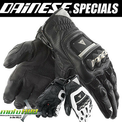 Dainese 4 Stroke Leather Gloves Riding Racing CE Gloves RRP $249.95 Now $175