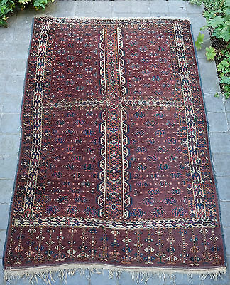 Superb Antique Hand Knotted Yomud Rug Turkoman Hatchli / Engsi  West Turkestan