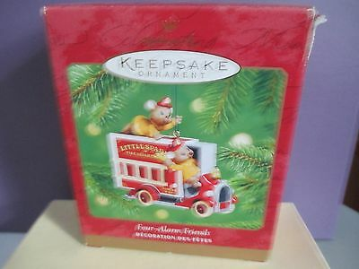 Hallmark Keepsake Ornament-Four-Alarm Friends- Die-Cast Metal 2001     bin 1