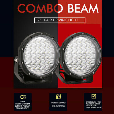 9Inch 99999W CREE LED Spot Driving Lights Spotlight WORK Offroad 4WD SUV Round