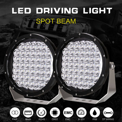 99999W 9inch CREE LED Driving Lights Spotlights work Offroad round Truck ATV BAR